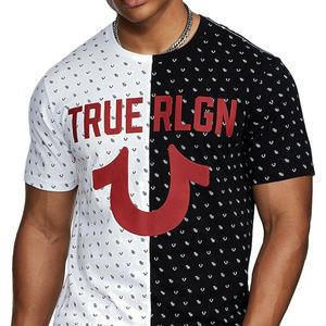True Religion Men's Split Monogram Tee T-Shirt